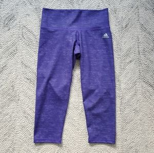 Adidas Heathered Purple Workout Leggings S